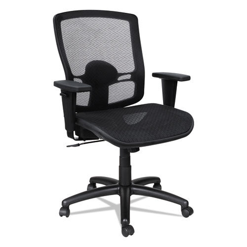 Our Alera® Etros Series Suspension Mesh Mid-Back Synchro Tilt Chair - Mesh Back/Seat - Black is on sale now.
