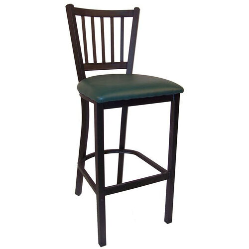 Our Metal Barstool with Vertical Slat Back is on sale now.