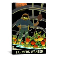 Mars Explorer Series: Farmers Wanted by NASA Gallery Wrapped Canvas Artwork