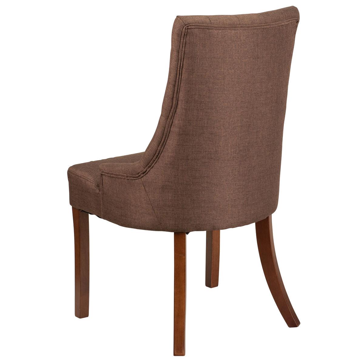 Hercules paddington series brown fabric tufted chair inset