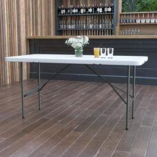 5-Foot Bi-Fold Granite White Plastic Folding Table