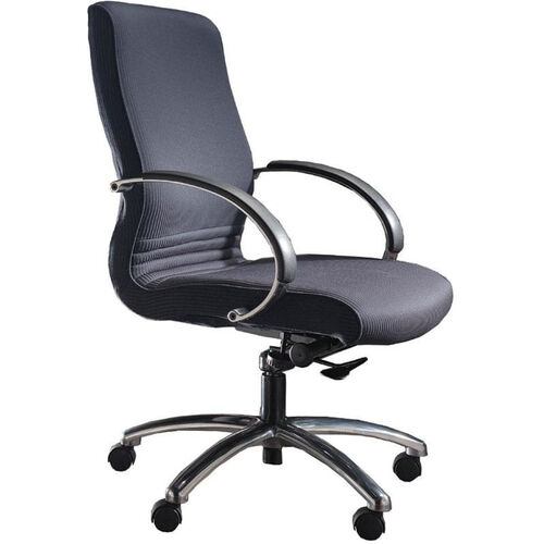 Quick Ship 1200 Series Executive Swivel Chair with Polished Chrome Arms