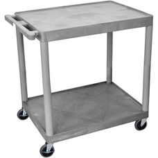 2 Shelf Structural Foam Plastic Utility Cart - Gray - 32