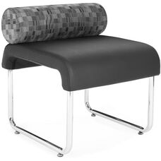 Uno Pillow Back Seat - Nickle Back with Black Seat