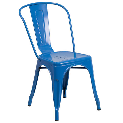 Our Commercial Grade Blue Metal Indoor-Outdoor Stackable Chair is on sale now.