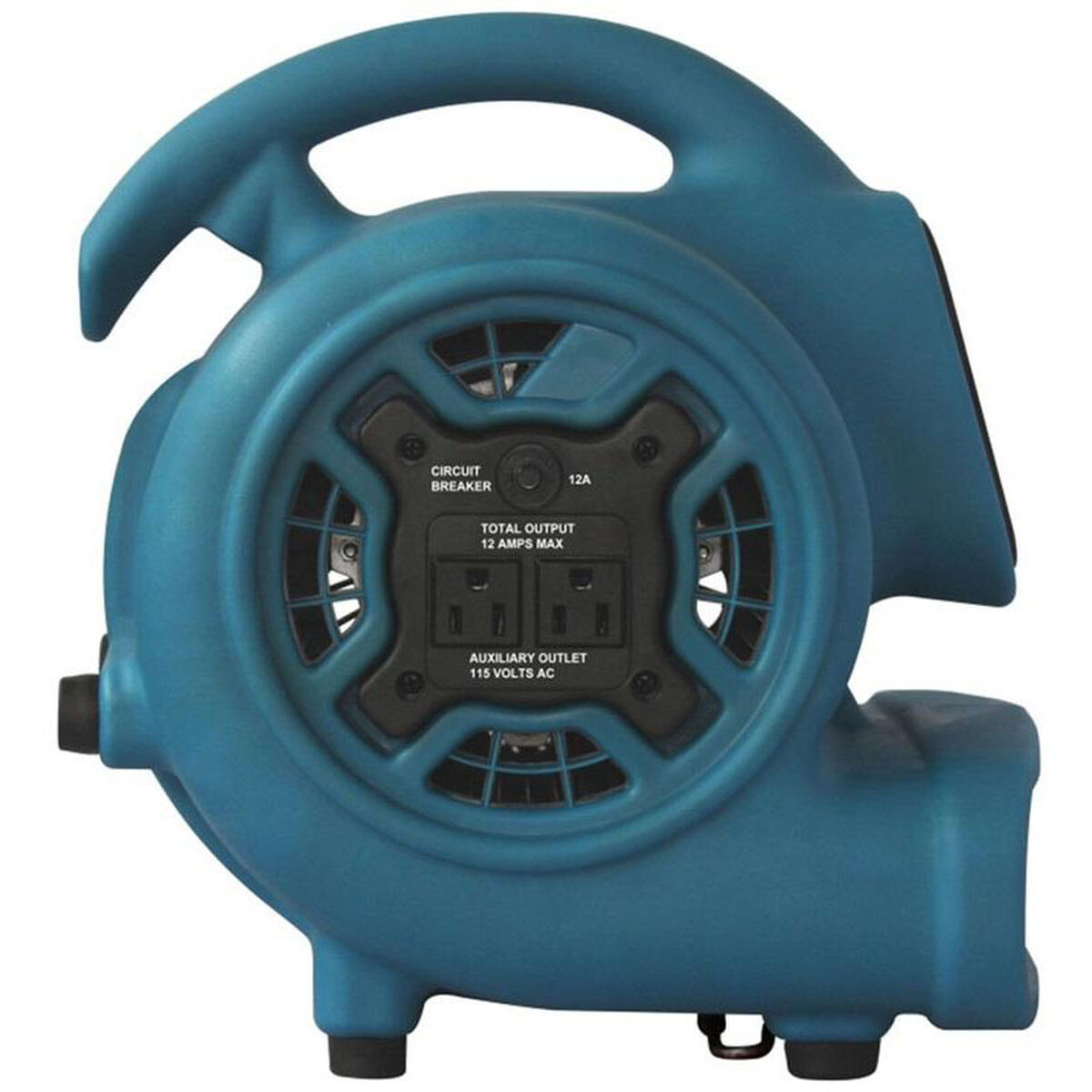 Xpower p 230at mini air mover with built in power outlets for Furniture 4 less outlet