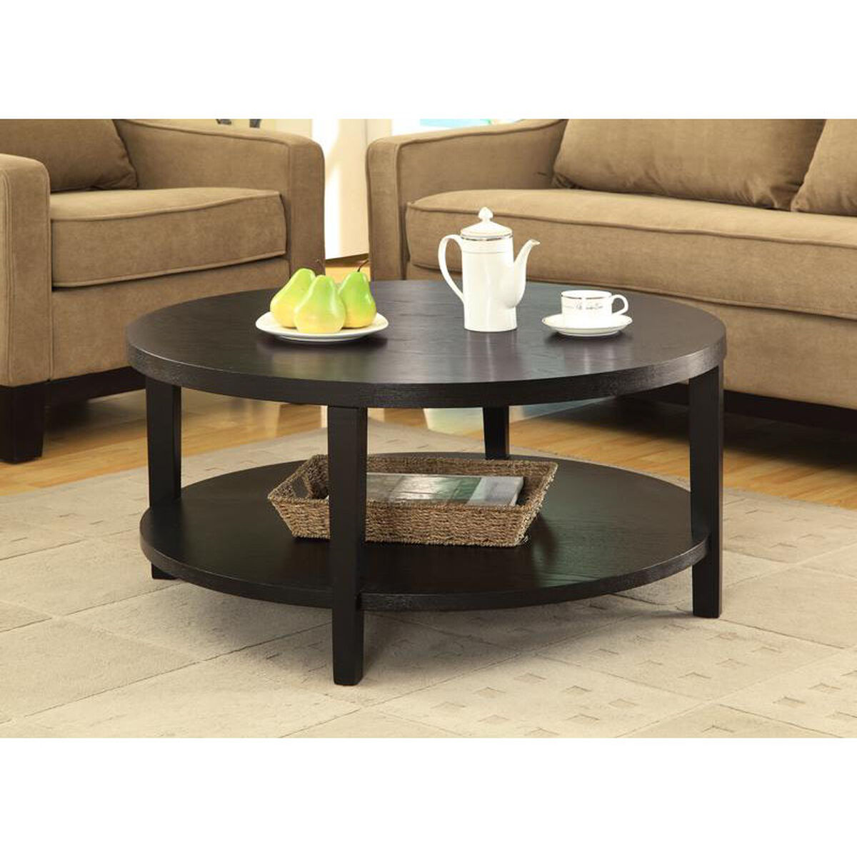 Ave Six Merge Round Coffee Table Mrg12 Bk