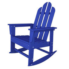 POLYWOOD® Long Island Collection Long Island Rocker - Vibrant Pacific Blue