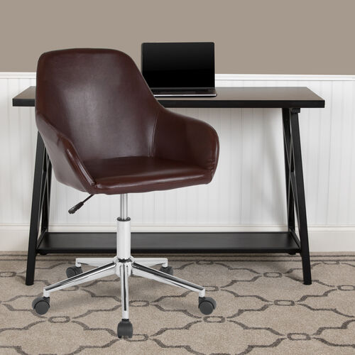 Our Cortana Home and Office Mid-Back Chair in Brown LeatherSoft is on sale now.