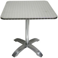 Stainless Steel Square Table Top with Aluminum Base
