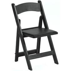 1000 lb. Max Resin Folding Chair - Set of 4 - Black