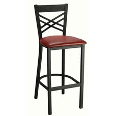 Cross Back Metal Barstool