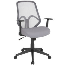 Salerno Series High Back Light Gray Mesh Office Chair with Arms