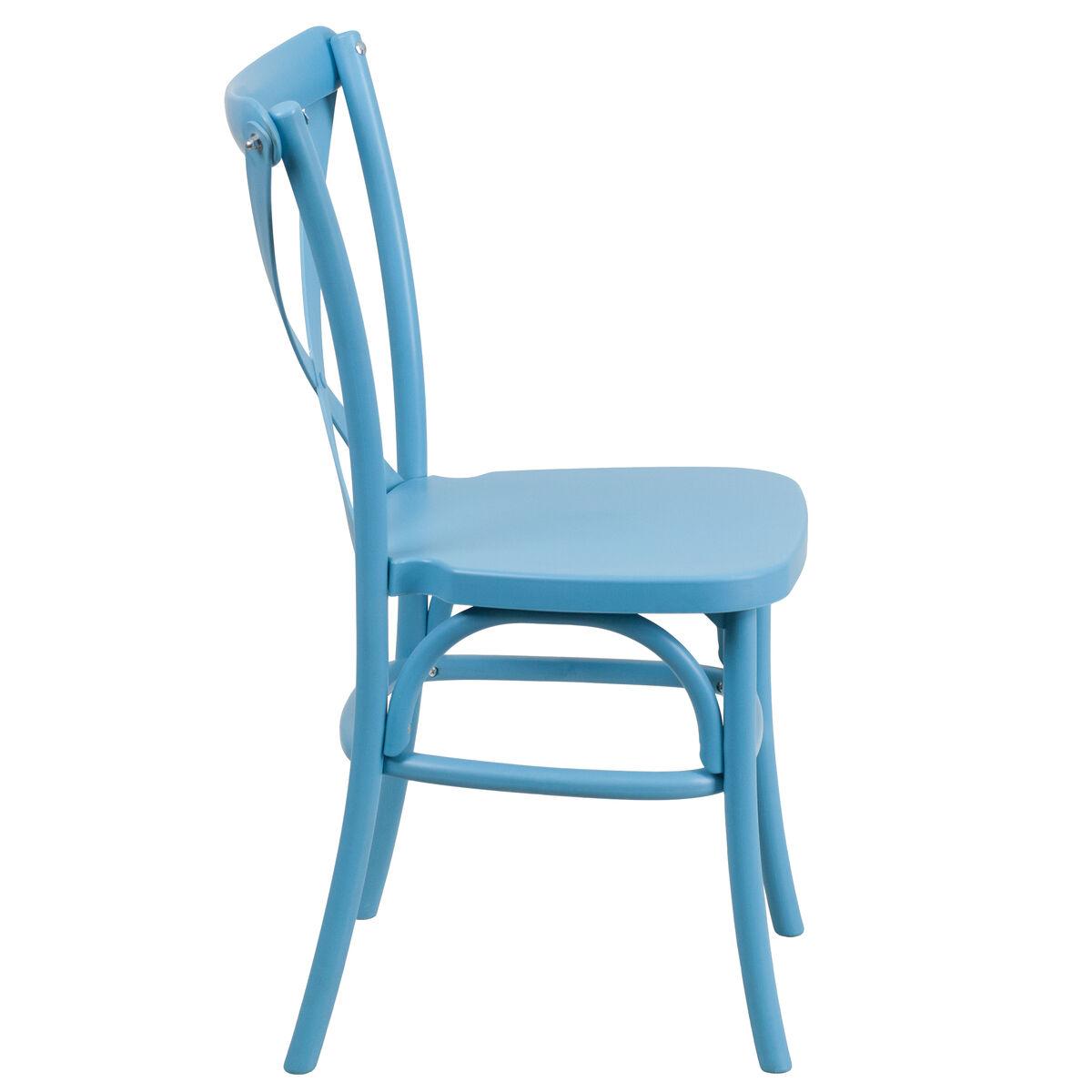 Flash Furniture Hercules Series Blue Resin Indoor Outdoor