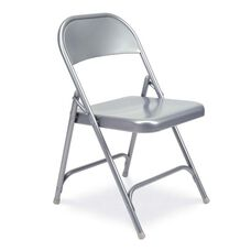 Quick Ship Multi-Purpose Steel Folding Chair with Silver Mist Finish - 17.75