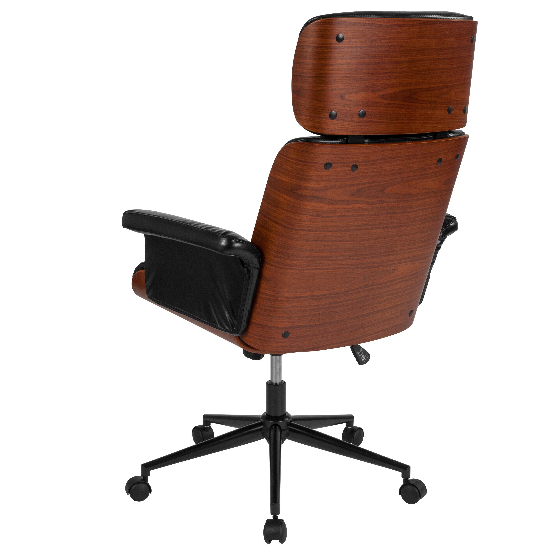 Black High Back Leather Chair SD 2972 5 GG | RestaurantFurniture4Less.com