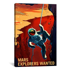 Mars Explorer Series: Explorers Wanted by NASA Gallery Wrapped Canvas Artwork