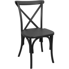 Advantage Black Resin X-Back Chair