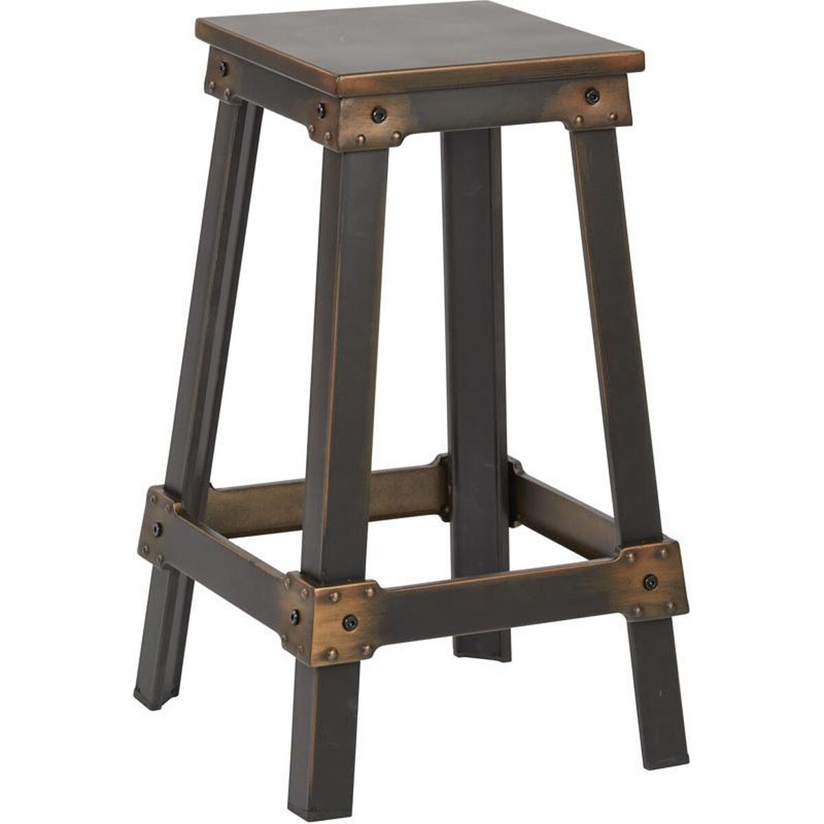 New Copper Metal Wood Counter Stool Kitchen Dining Bar: OSP Designs New Castle 26'' Metal Counter Barstool