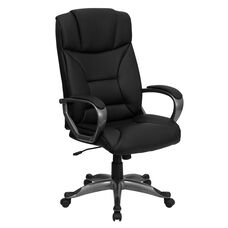 High Back Black LeatherSoft Executive Swivel Office Chair with Arms