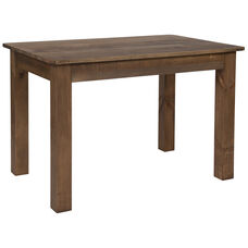 "46"" x 30"" Rectangular Antique Rustic Solid Pine Farm Dining Table"