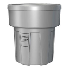 30 Gallon Cobra Flame Retardant Trash Can - Gray