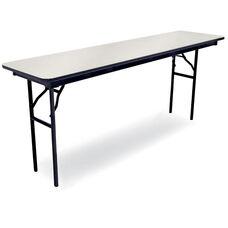 72''D Rectangular Laminate Seminar Table with Locking H-Style Legs