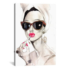 Audrey Hepurn by Rongrong DeVoe Gallery Wrapped Canvas Artwork