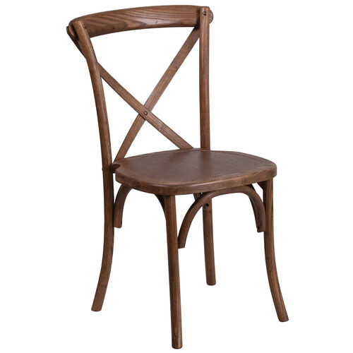 Our HERCULES Series Stackable Pecan Wood Cross Back Chair is on sale now.