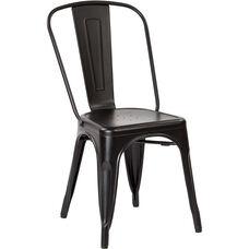 OSP Designs Bristow Armless Chair - Set of 4 - Matte Black