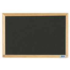 Economy Series Black Composition Chalkboard with Wood Frame - 12