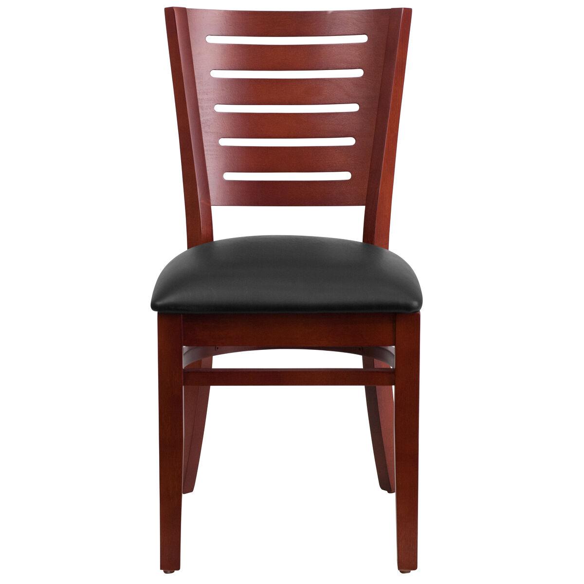 Wood slat back chair bfdh dg w
