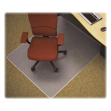 Lorell Med Plush Chairmat - Rectangular - 46