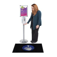 "Hand Sanitizer Message Floor Mat - 24""W x 35""D"