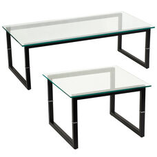 Glass End and Coffee Table Set