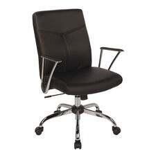 Work Smart FL80287C Faux Leather Office Chair - Black
