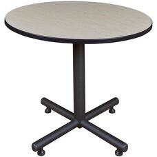 Kobe 42'' Round Laminate Breakroom Table with PVC Edge - Maple