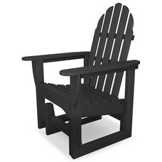 POLYWOOD® Adirondack Collection Glider Chair - Gray