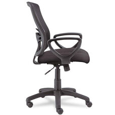 Alera® Etros Series Mesh Mid-Back Swivel/Tilt Chair - Black