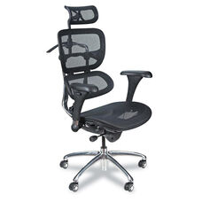 BALT® Ergonomic Executive Butterfly Chair - Black Mesh