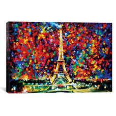 Paris Of My Dreams by Leonid Afremov Gallery Wrapped Canvas Artwork