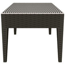 Miami Outdoor Wickerlook Resin Coffee Table - Brown
