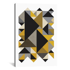 Triangles Org by Flatowl Gallery Wrapped Canvas Artwork