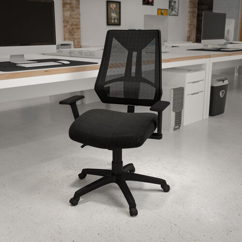 High Back Black Mesh Multifunction Swivel Ergonomic Task Office Chair with Adjustable Arms