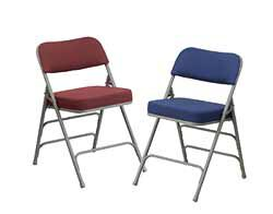 ... Upholstered Folding Chairs ...