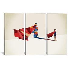 Walking Shadow Hero I by Jason Ratliff Triptych Gallery Wrapped Canvas Artwork - 60