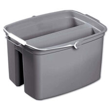 Rubbermaid® Commercial Double Utility Pail - 17qt - Gray