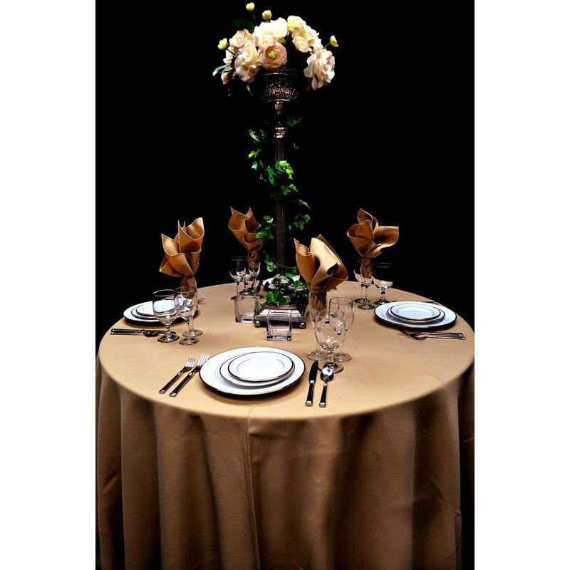 ... Our 60u0027u0027 X 60u0027u0027 Renaissance Stain Resistant Series Square Tablecloth    Khaki