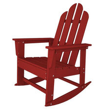 POLYWOOD® Long Island Collection Long Island Rocker - Vibrant Sunset Red