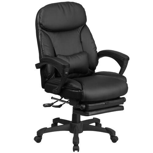 Our High Back Black LeatherSoft Executive Reclining Ergonomic Swivel Office Chair with Comfort Coil Seat Springs and Arms is on sale now.